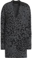 By Malene Birger Paliza Animal-Print Wool-Blend Cardigan
