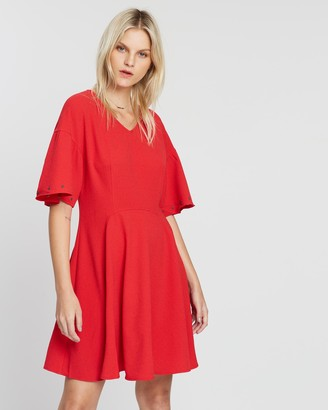 Maison Scotch Sport Dress with Eyelet Sleeve Details