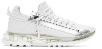 Givenchy White and Silver Spectre Low Runner Sneakers