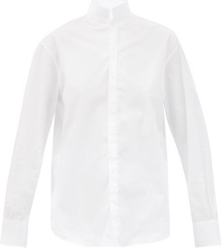 Bourrienne Paris X - Vii Amazone Stand-collar Cotton Shirt - White