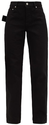 Bottega Veneta High-rise Slouchy-fit Straight-leg Jeans - Black