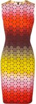 Aude polka-dot stretch-cotton twill dress