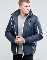Blend of America Hooded Parka Jacket Blue Nights