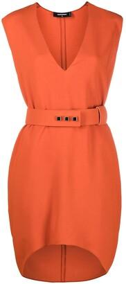 DSQUARED2 V-neck belted dress