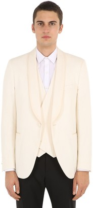 Lardini Cotton Blend Smoking Jacket