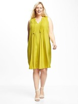 Old Navy Plus-Size Pintuck Swing Dress