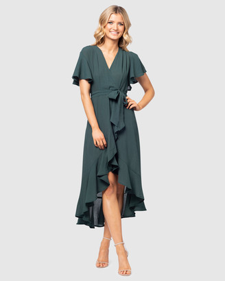 Pilgrim Women's Green Midi Dresses - Monet Midi Dress - Size One Size, 6 at The Iconic