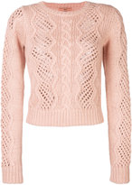 Ermanno Scervino open cable knit jumper