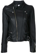 Le Ciel Bleu Wash Leather Riders jacket - women - Lamb Skin - 36