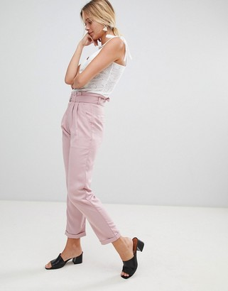 Glamorous pants with d-ring belt