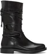 Diesel Black Gold Black Lace Around Boots