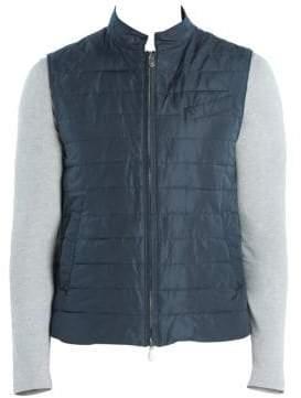 Eleventy Wind& Water-Resistant Quilted Zip Vest