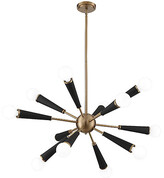 Crystorama Zodiac 12-Light Chandelier - Aged Brass
