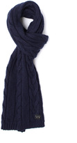 Edwin Shackle Navy Cable Knit Scarf