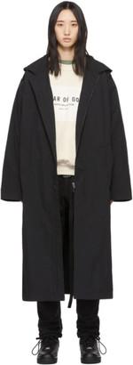 Fear Of God Black Nylon Hooded Rain Coat