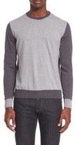Canali Men's Wool Colorblock Crewneck Sweater