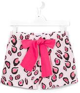 MSGM leopard print shorts