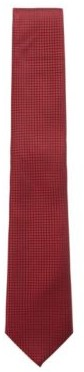 HUGO BOSS Micro Patterned Tie In Pure Silk With Water Repellency - Red