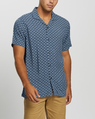 Abercrombie & Fitch Men's Blue Shirts - SS Resort Shirt - Size S at The Iconic