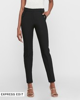 Express High Waisted Flap Pocket Straight Cropped Pant