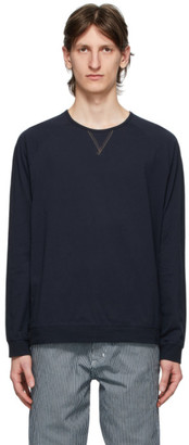 Paul Smith Navy Jersey Long Sleeve T-Shirt
