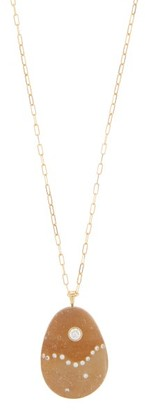 Cvc Stones Creative Diamond & 18kt Gold Necklace - Brown