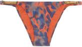 Vix Ibi embellished printed bikini briefs