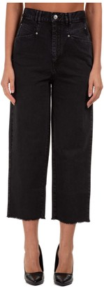 Isabel Marant Cropped Straight Leg Jeans