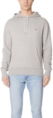 MAISON KITSUNÉ Long Sleeve Tricolor Fox Patch Hoodie