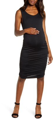 Angel Maternity Sleeveless Body-Con Maternity Dress