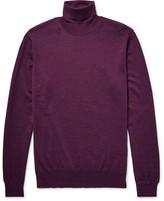 Lanvin Merino Wool Rollneck Sweater - Grape