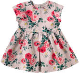 Cath Kidston Small Antique Rose Baby Pleat Jacquard Dress