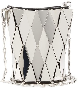 Paco Rabanne Lozenge 69 Metal Bucket Bag - Womens - Silver