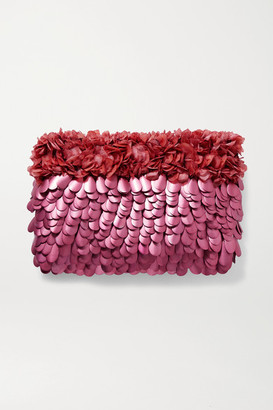 Nannacay Mazzy Embellished Tulle Clutch - Pink