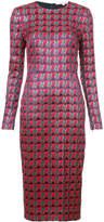 Diane von Furstenberg metallic patterned bodycon dress