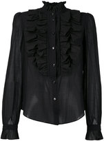 Temperley London 'Strawberry' ruffle shirt - women - Silk/Cotton - 8