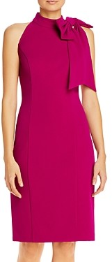 Eliza J Bow-Accent Cocktail Dress