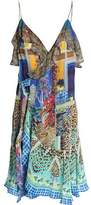 Camilla Embellished Printed Silk Wrap Mini Dress