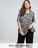 Koko Butterfly Print Jersey Top