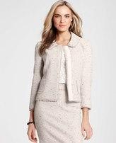 Ann Taylor Petite Fringed Tweed Jacket