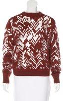 Alexander Wang Chevron-Patterned Wool Sweater