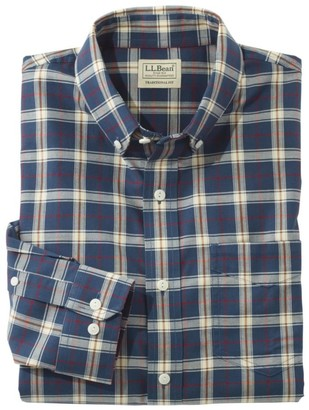 L.L. Bean Men's Easy-Care Chambray Shirt, Traditional Fit Plaid
