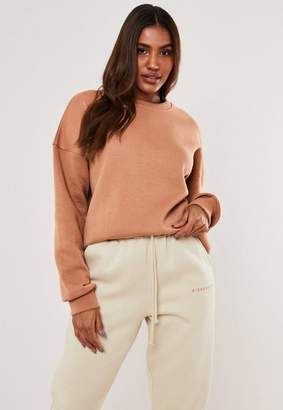 Missguided Tall Camel Oversized Sweatshirt