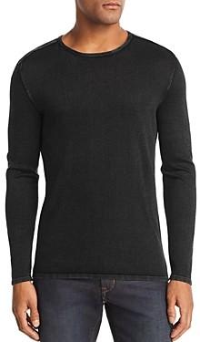 John Varvatos Acid-Wash Crewneck Sweater