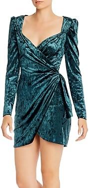 Saylor Velvet Snake Patterned Mini Dress