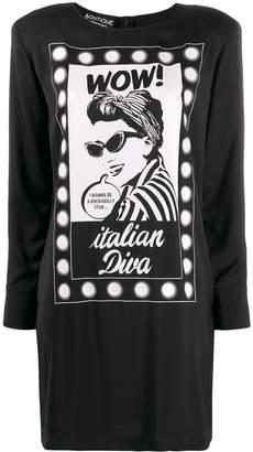 Moschino Italian Diva print dress