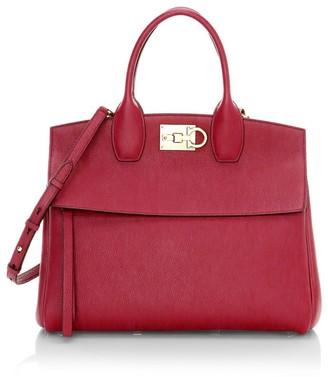 Salvatore Ferragamo Medium Studio Leather Top Handle Bag