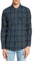 Obey Men's Highland Trim Fit Plaid Woven Shirt