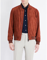 Canali Suede Bomber Jacket