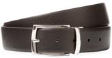 a. testoni Box Karibu Calf Leather Reversible Belt